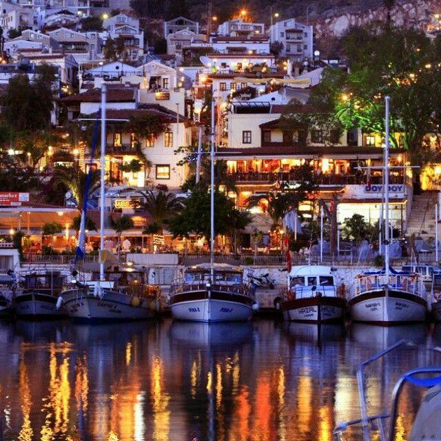 Lovely night at Kalkan harbour  #kas #kalkan  #turkey