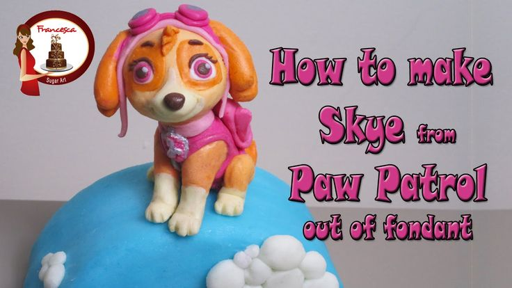 How to make Skye from Paw Patrol cake topper tutorial