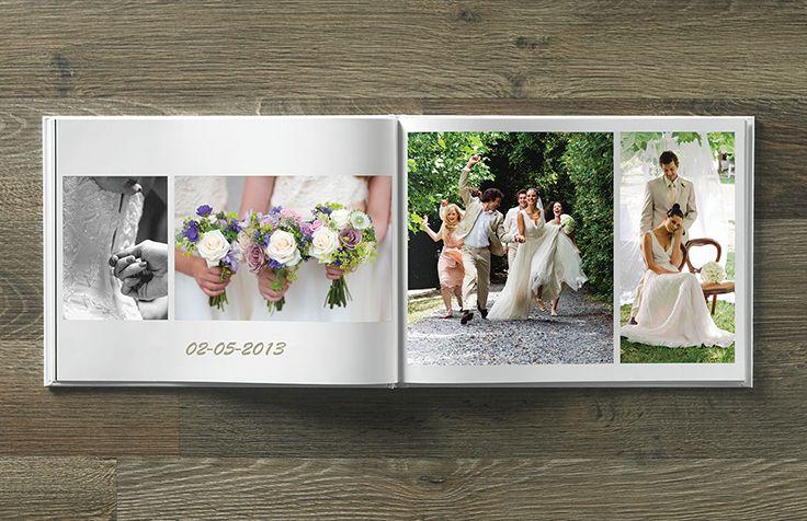 Ta vare på minnene fra bryllupsdagen i en fotobok