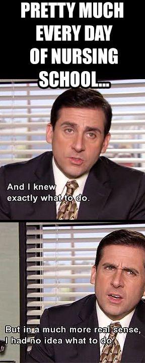 Pretty much every day of nursing school...