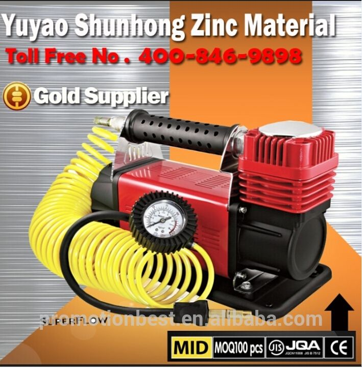 24v 150psi 60mm cylinder mental Car air compressor/Car portable air pumper/Tire inflator