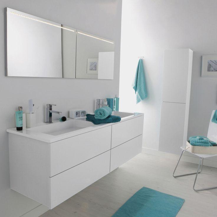 Meuble de salle de bains cosmo blanc calcaire n 3 project ideas residenc - Leroy merlin catalogue salle de bain ...