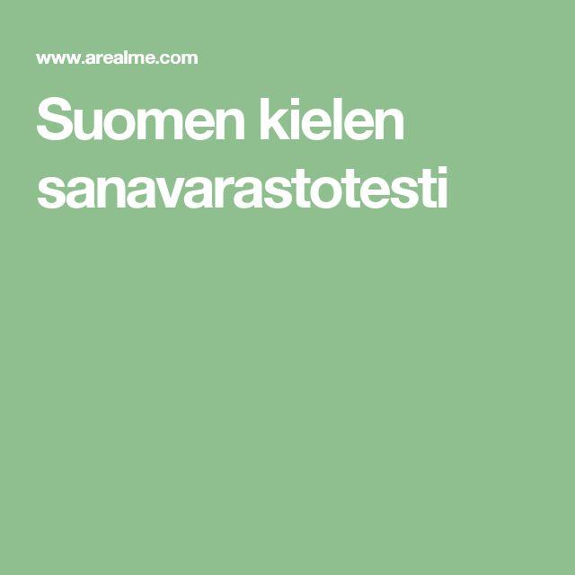 Suomen kielen sanavarastotesti