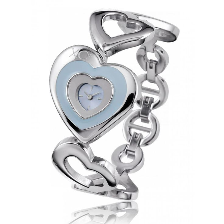 Ladies stainless steel LOVE blue watches - Xc38