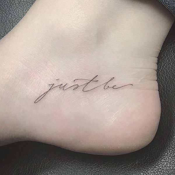 Tiny Foot Tattoo.