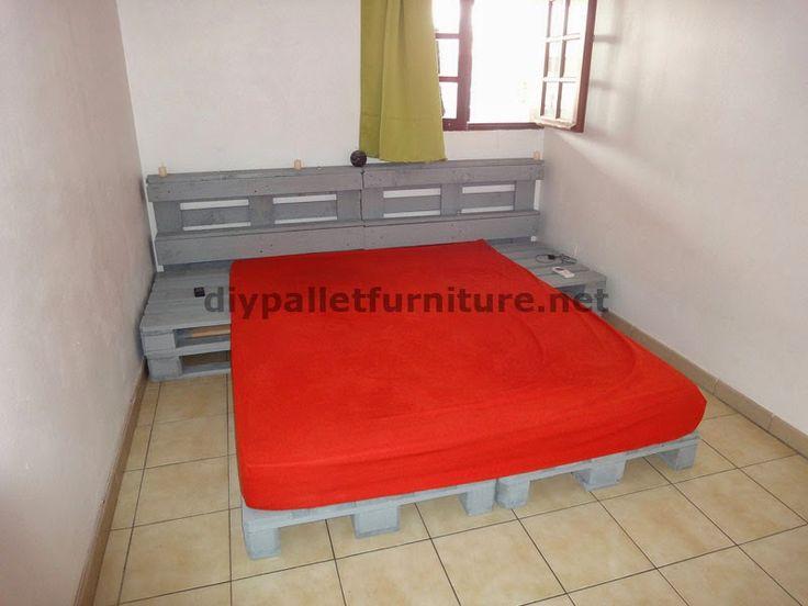 Muebles de palets instrucciones de como hacer una cama for Cama con palets