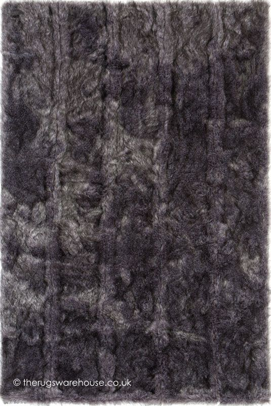 Roce Grey Rug Ligne Pure A Luxury Handmade Faux Fur In