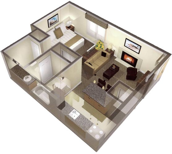 Love this layout small house addict pinterest for Basement apartment floor plans
