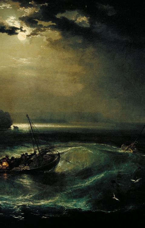 """Fishermen at Sea"" - Joseph Mallord William Turner (1792)"