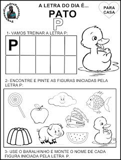 Pequenos Grandes Pensantes.: Atividades Inéditas - Família Silábica do P