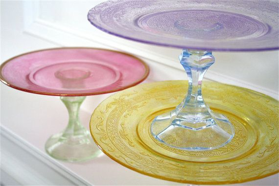 Colorful cake pedestals- GLITTER cake pedestals-jolly rancher cake pedestals-pastel cake pedestals-Mothers day gifts
