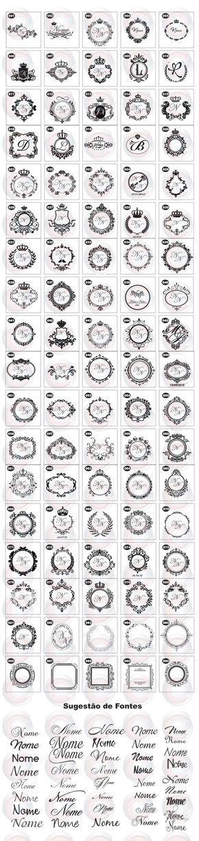 1 Brasão,monograma, Corel, Aniversario, Casamento,logo,vetor - R$ 9,99