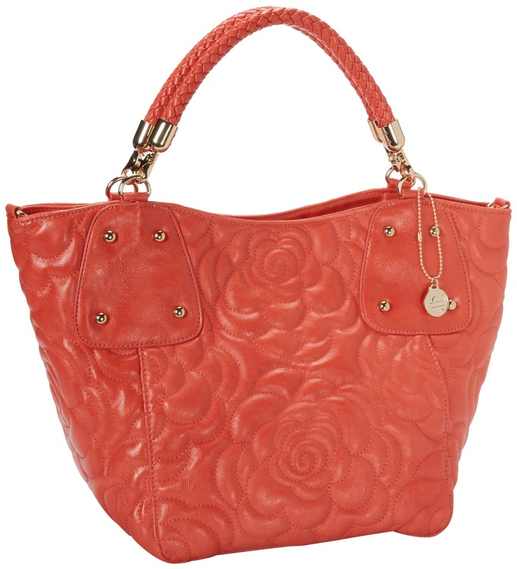 BIG BUDDHA Jfarah Tote,Coral.  I love the braided handles.  These bags are great for work because they are roomy.