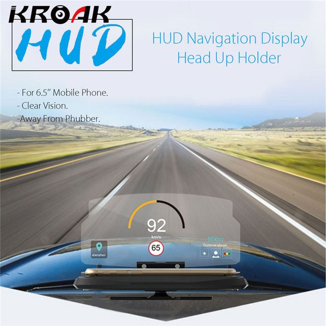 Universal Mobile Phone Car Holder Windscreen Projector Hud Head Up Display 6 5 Inch For Iphone Samsung Gps Revi Head Up Display Car Phone Holder Gps Navigation
