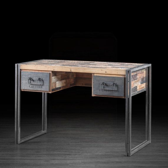 Two Drawer Desk Made Of Industrial Metal And By ARTEMANOdotUS, $1395.00 ·  Fine FurnitureUrban FurnitureLiving ...