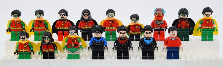ALL THE ROBIN !!!! There is a lot, unique and cool minifigures of Robin…