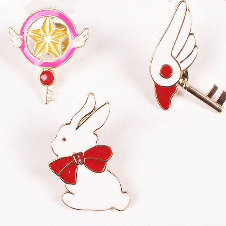 اليابانية الكرتون تصميم نجمة الطيور قمة الرأس أرنب جديد حار مبيعات أزياء جميلة فتاة المينا بروش مصنع بالجملة شارة