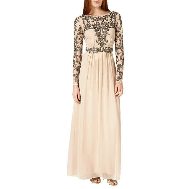 BuyPhase Eight Collection 8 Electra Full Length Dress, Champagne, 6 Online at johnlewis.com