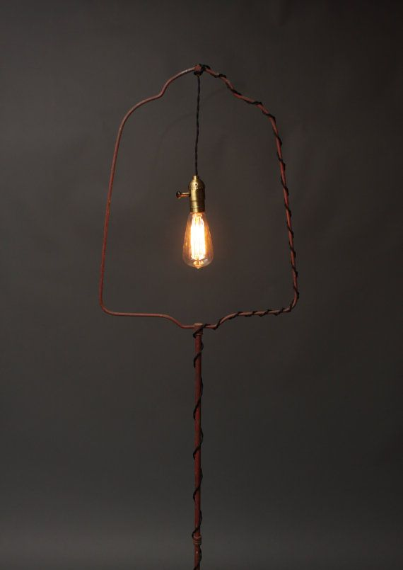 Vintage Exposed Bulb Hanging Light -
