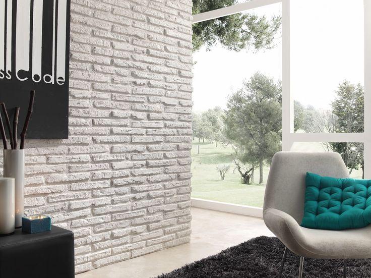 una pared de ladrillo blanco en el saln mi hogar pinterest pared de ladrillo blanco ladrillos blancos y pared de ladrillos