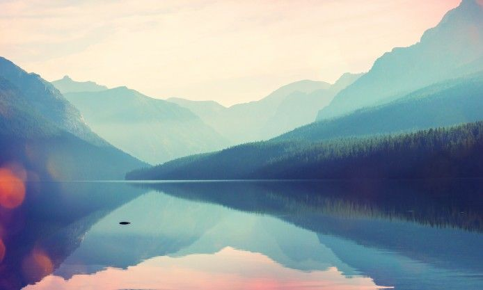wonderful colour of the mountains beautifully reflected in the quiet waters , full hd wallpaper desktop background untral Click for 4K example