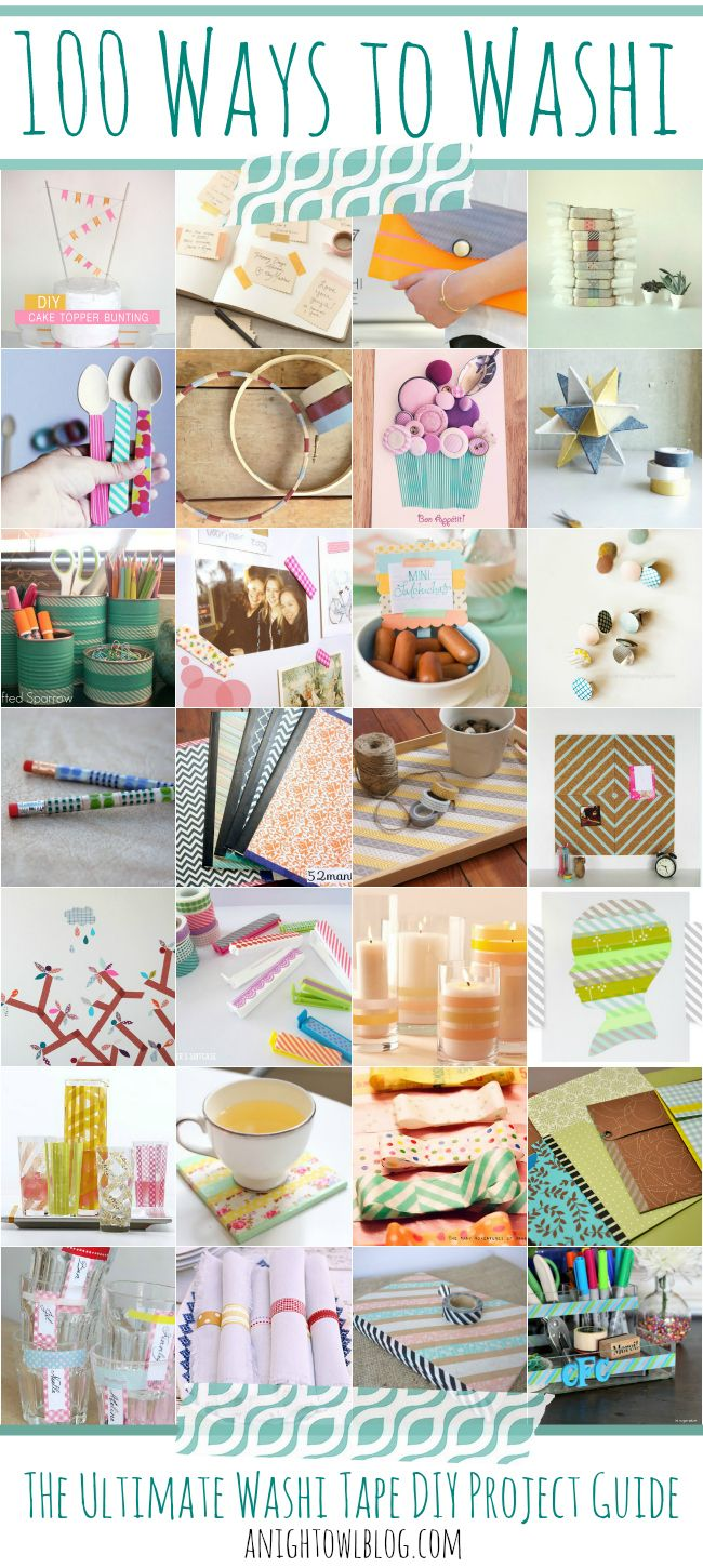 100 Ways to Washi - The Ultimate Washi Tape DIY Project Guide! @A Night Owl Blog #washi #washitape