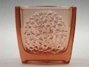 Bohemian 'Hobnail' glass vase Rudolf Jurnikl / Rudolfova Sklo Union