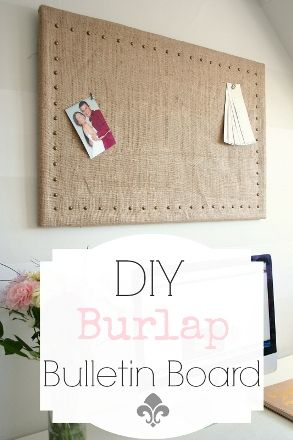 How to Make a Burlap Bulletin Board