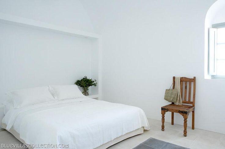 Villa Fabrica Bedroom   Luxury Santorini Villas   Blue Villas Collection