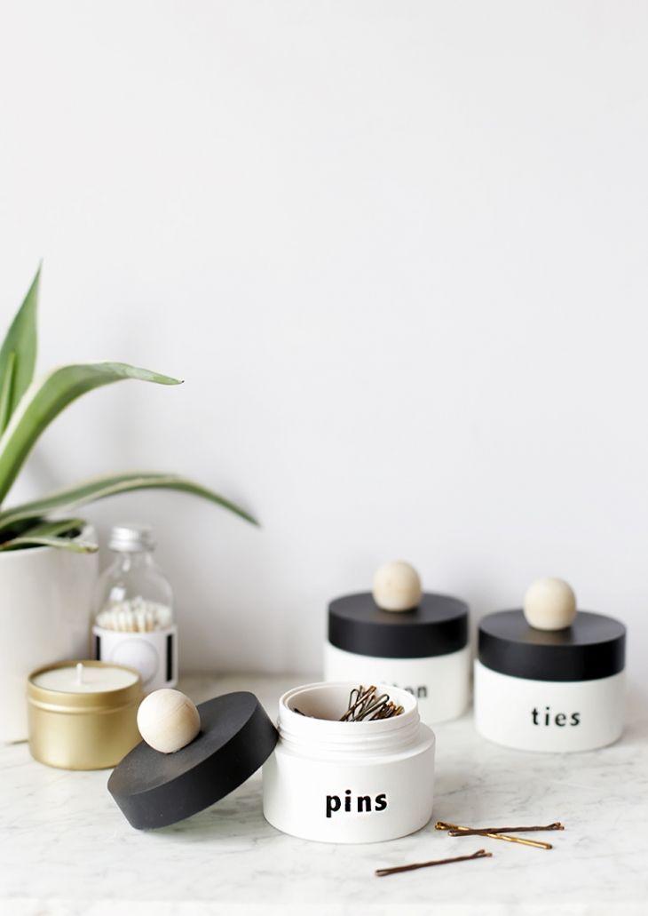 Diy Upcycled Storage Jars Hausorganisations Tipps Einfaches Wohndekor Coole Ideen