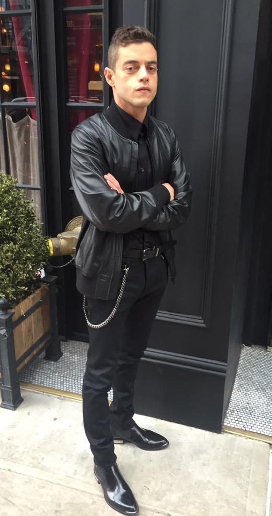 Dressed in Diesel. Hot! #MrRobot #RamiMalek #Diesel