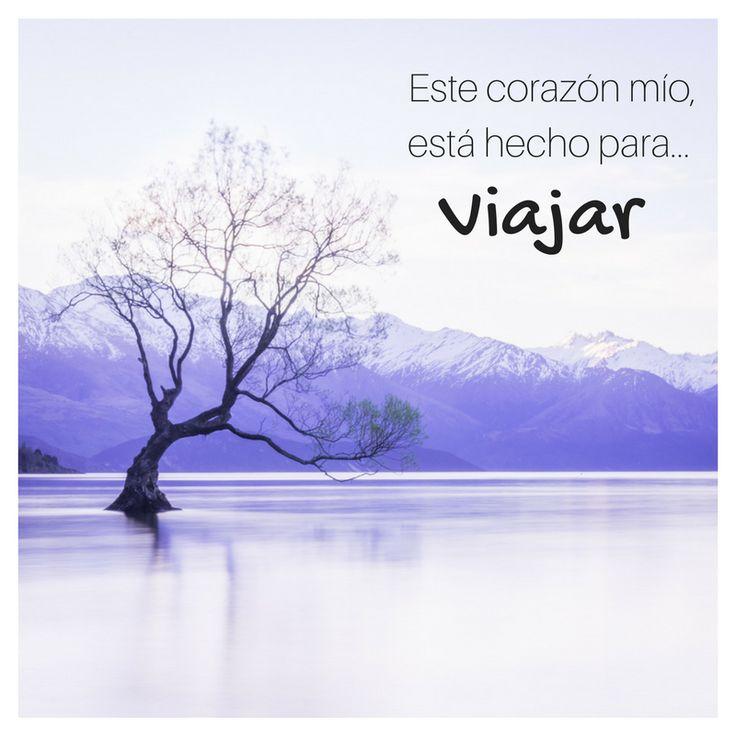 """""""Este corazón mío está hecho para viajar""""  #frases #viajes #frase #viaje #inspiracion #viajera"""