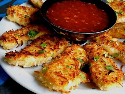 Caribbean Coconut chicken.: Coconut Shrimp, Chicken Chili, Dips Sauces, Coconut Milk, Chilis Dips, Coconutchicken, Chicken Breast, Coconut Chicken, Sweet Chilis