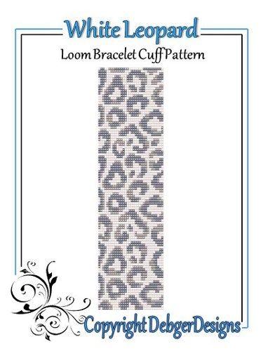 White Leopard - Loom Bracelet Cuff Pattern | DebgerDesigns - Patterns on ArtFire