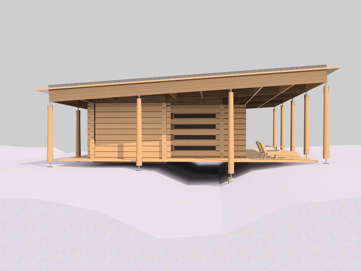Стилистическое решение объекта достаточно точно определено архитекторами как «деревянный минимализм».