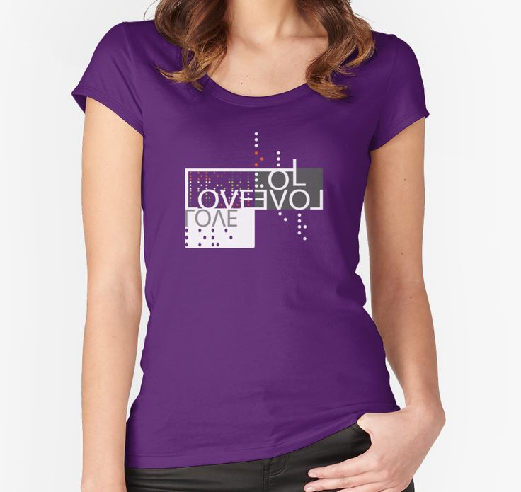 Love, Brail : Blind Love Is True Purple T-Shirt by Black-Fox