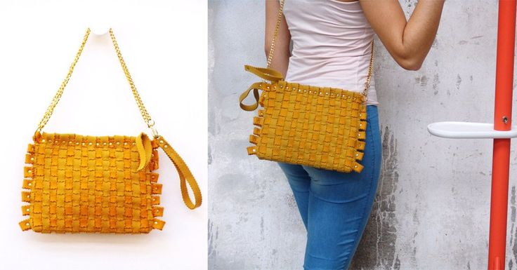 Fashion accessories in felt. For your summer, in the colour yellow. Visit our site: feltrando.com