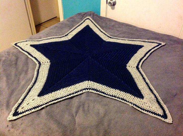 Oushak Rugs Crochet Dallas Cowboy afghan