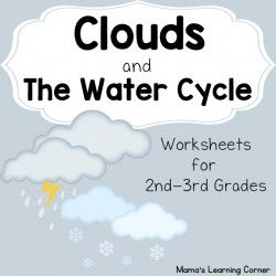 Clouds and the Water Cycle Worksheets for 2nd and 3rd graders. Includes 11 different printable activities!