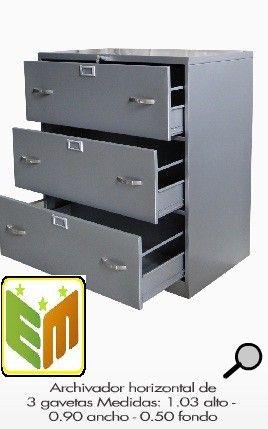 Archivo horizontal-muebles metalicos para oficinas Colombia