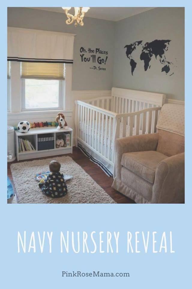 Baby Boy Room Themes Travel: Navy Blue Travel Themed Nursery Boy Blue Tan Nursery Room