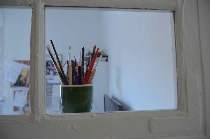 Gamle vinduer, arbejdsværelse / Bygget af Erik Modin