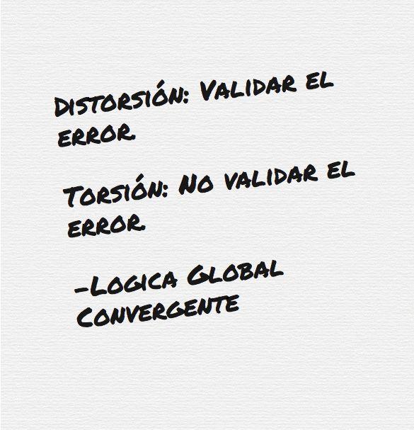 Distorsión: Validar el error. Torsión: No validar el error. Lógica Global Convergente.