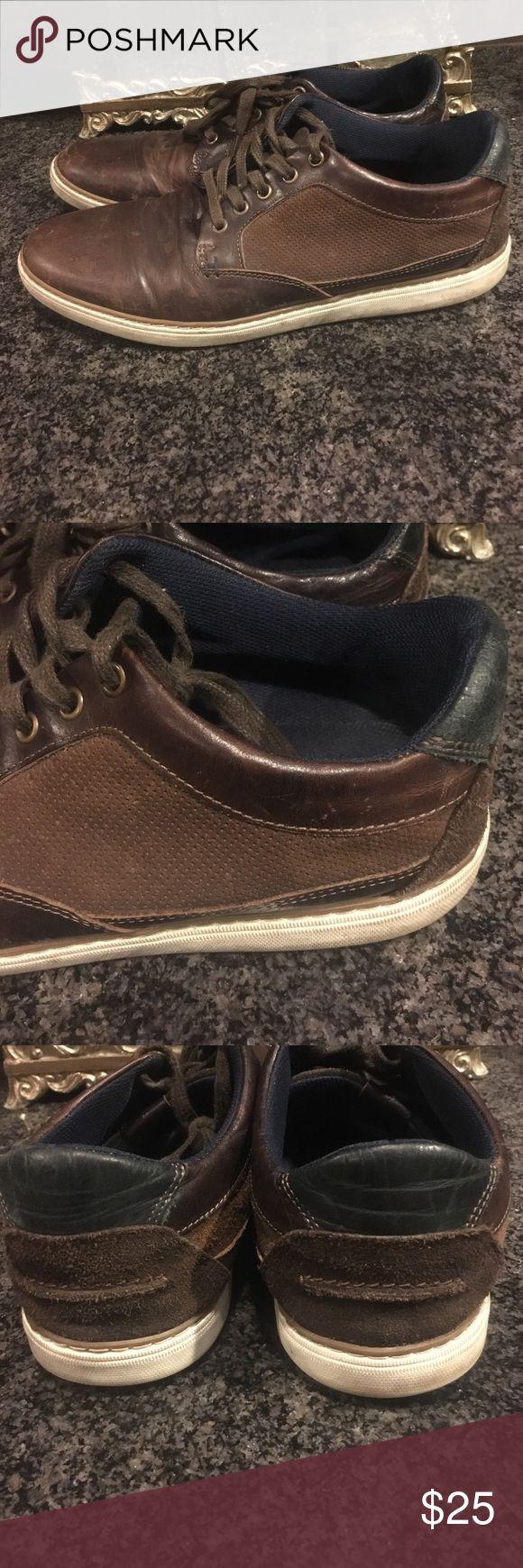 Aldo men brown leather shoes in 10.5 Aldo men brown leather shoes in size 10.5 Aldo Shoes Oxfords & Derbys