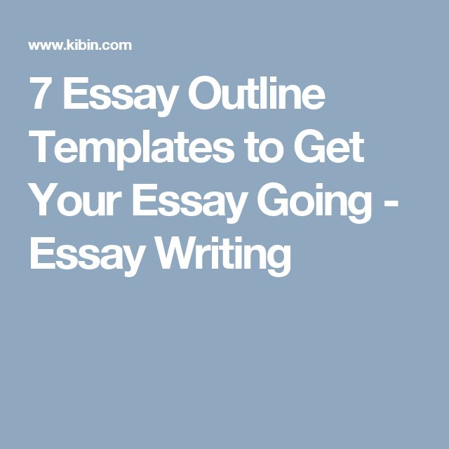 Более 25 лучших идей на тему «Essay outline template» на Pinterest - essay outline