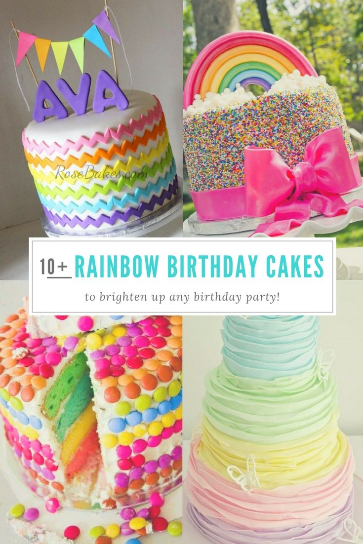 These Rainbow Birthday Cakes for Girls are the perfect way to brighten up a birthday party. Everything from Ombre designs to My Little Pony.