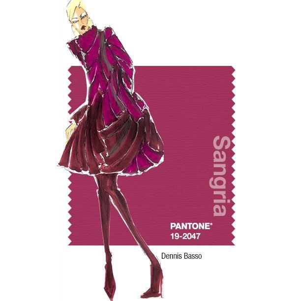 PANTONE Fashion Color Report – Fall 2014 – Sangria– Dennis Basso