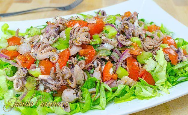 Salata cu caracatita - reteta video