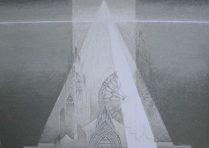 Grey 8-2005, 50x70, oil pastels