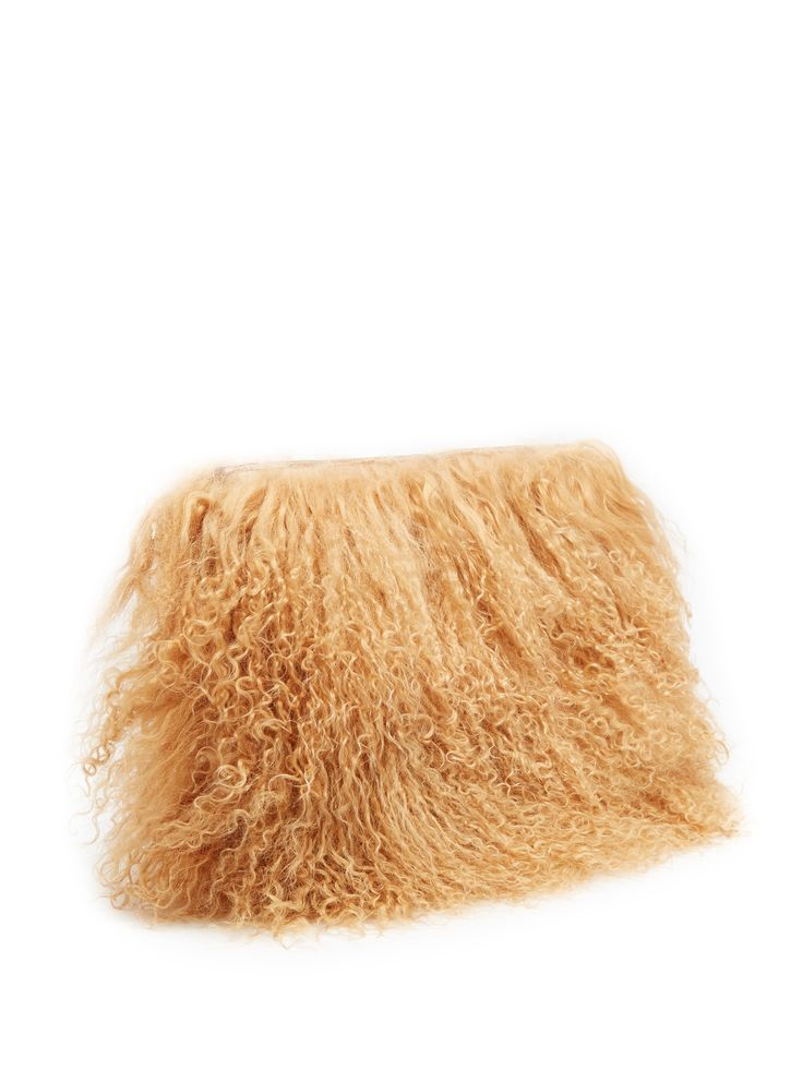 Click here to buy Brother Vellies Wallflower Mongolian-fur pouch at MATCHESFASHION.COM